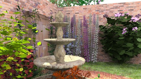 Secret Garden fountain` - Vintage - Garden - by georginamassingham28