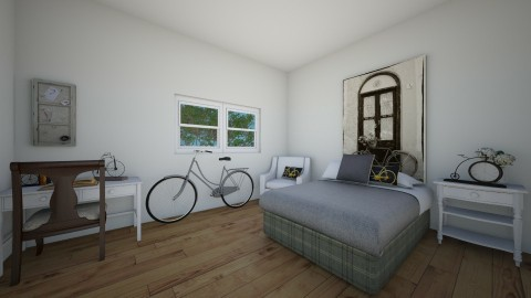 bicycle bedroom - Classic - Bedroom - by elisa sagie