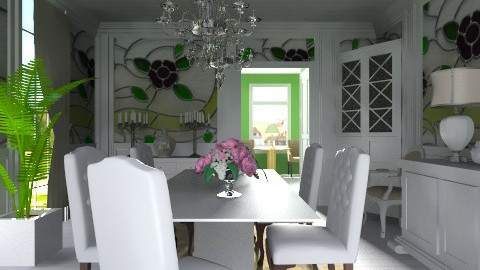 green dining room - Classic - Dining room - by XValidze
