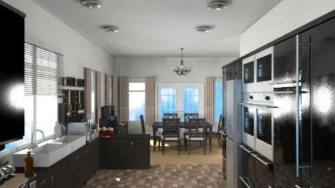 Modern Black - Modern - Kitchen - by Bibiche