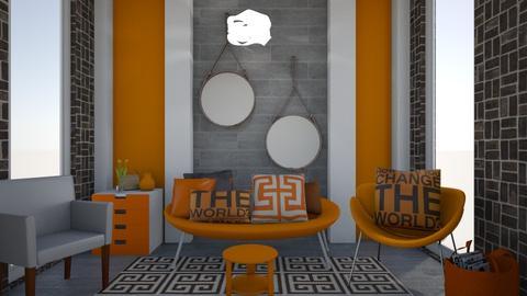Orange and Brown - Modern - Living room - by XiraFizade