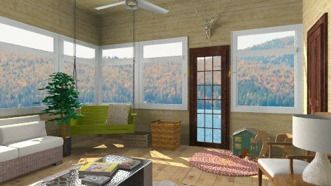 Lakeside cabin porch - by ocbruner