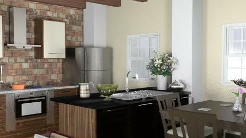 Cotswolds barn conversion: kitchen  - Classic - Kitchen - by shelleycanuck