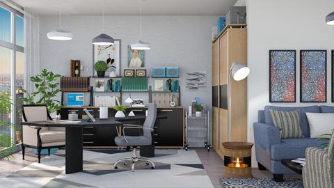 M_ Eclectic office - Office - by milyca8