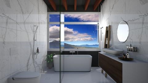 Sky - Bathroom - by Asya Aya