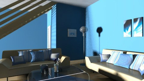 BLue - Modern - Living room - by Menna Ibrahim