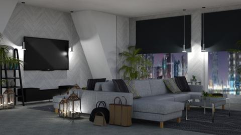 Night in the City - Modern - Living room - by millerfam