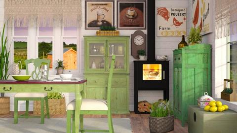Dinner on the Farm - Country - Living room - by Sally Simpson
