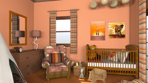 Little Indian - Vintage - Kids room - by mirkaaa