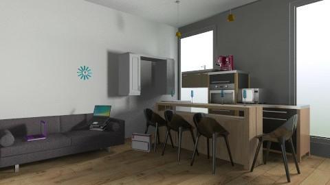 designed kitchen room - Retro - Kitchen - by jodicookstyle