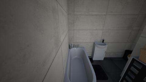 lazienka bez plytek - Bathroom - by smielak