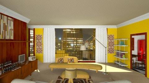 1950s - Retro - Living room - by CassW