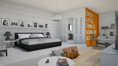 Music - Modern - Bedroom - by nathaly_cardoso