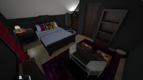 Dark maximalism - Eclectic - Bedroom - by KendraLouise