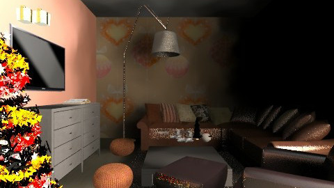 Christmas orange - Living room - by vydrovamisulka1
