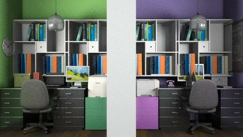 His/Her Home Office - Modern - Office - by vanessa_designs