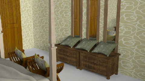British Colonial Bedroom - Bedroom - by Anu Green