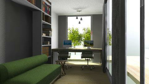mi oficina 01 - Modern - Office - by Lanena