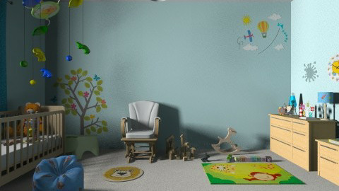 blue - Masculine - Kids room - by Jen Guerra
