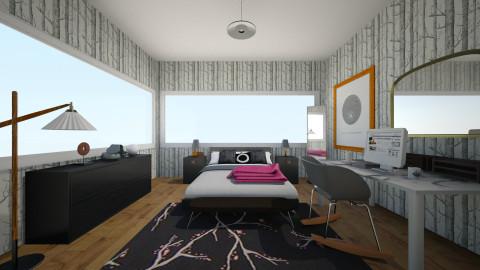 pink and black - Modern - Bedroom - by LAS95