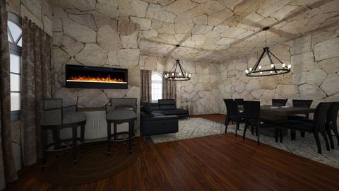 DR - Minimal - Dining room - by Samia Ghafrani