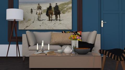 Royal Blue - Classic - Living room - by HenkRetro1960