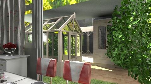 Red Kitchen and Garden3 - Modern - Kitchen - by bia_freitas