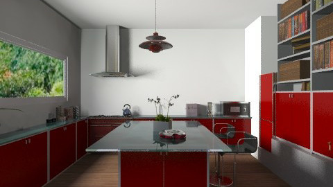 kitcheninred - Classic - Kitchen - by jackiefruit
