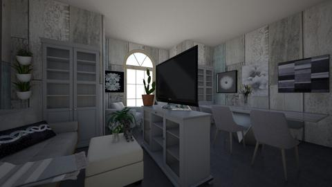 Gray - Modern - Living room - by InteriorQueen0919