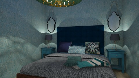 blu rum - Bedroom - by Rebecca Sliney