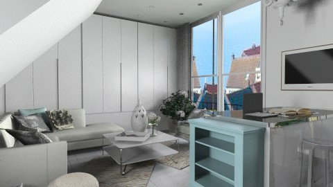 WhiteIsh Attic - Eclectic - Living room - by ovchicha