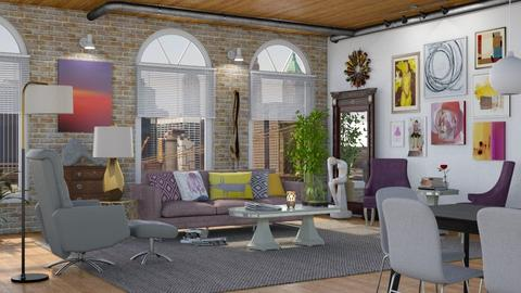 Art Collector Home - Living room - by GraceKathryn