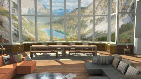 Mountain house - Country - Living room - by ec2190