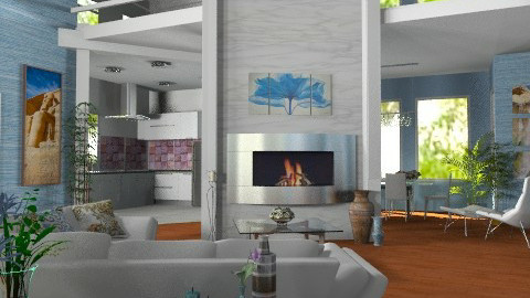 Center Fireplace - Modern - Living room - by Bibiche