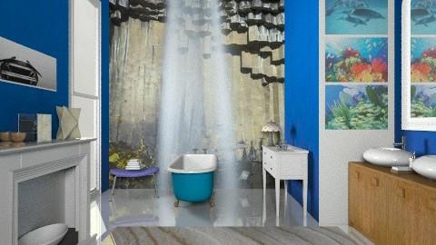 blue - Eclectic - Bathroom - by mrschicken