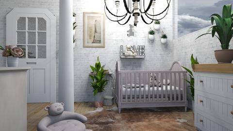 Baby Girl - Rustic - Bedroom - by NEVERQUITDESIGNIT
