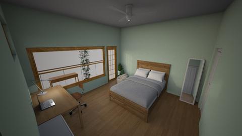 My Dream Room Daytime 2 - Minimal - Bedroom - by Ameera Peachy Mint