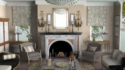 GeorgianGrandeur - Classic - Living room - by camilla_saurus