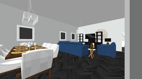 House 1 - Living room - by Poey