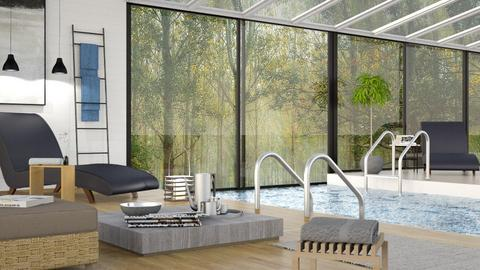 Swimming Pool  - Living room - by Sally Simpson