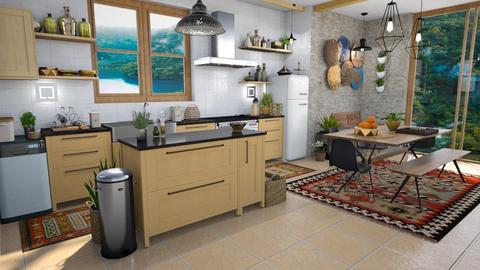 Bohemian dak and light - Kitchen - by Moonpearl