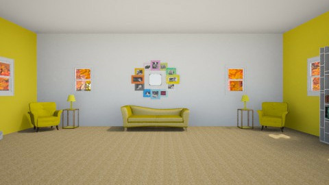Living Yellow - Living room - by RocketFlyer22