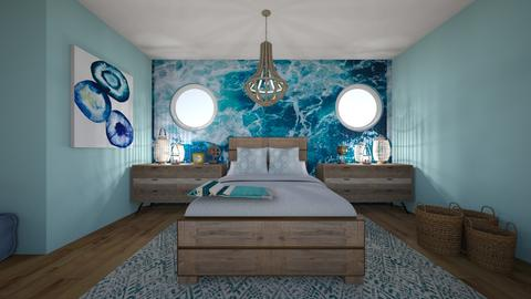cool beach bedroom - Bedroom - by livdesign
