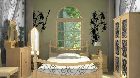 Pine - Rustic - Bedroom - by milyca8