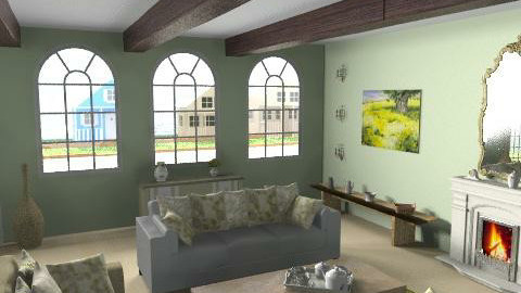 Cottage_Livingroom - Country - Living room - by giulygi