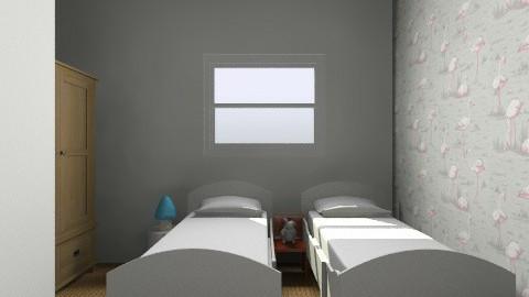 Twins option 2 - Retro - Kids room - by gaylefirmin