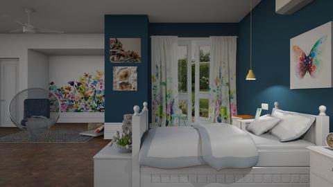 S_Wild Flower Meadow - Bedroom - by Shajia