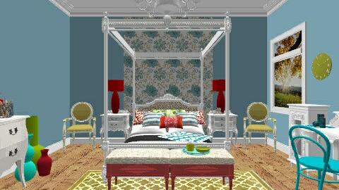 Burst of Color - Bedroom - by secretsunny