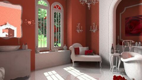 Red Rose - Bathroom - by Violetta V