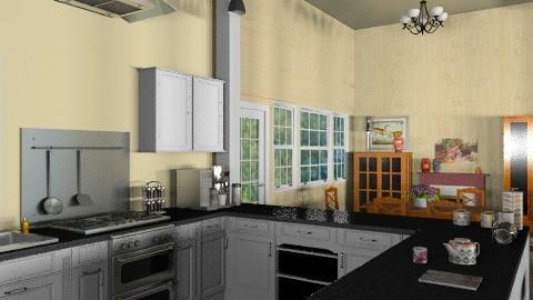 White Kitchen - Classic - Kitchen - by Bibiche